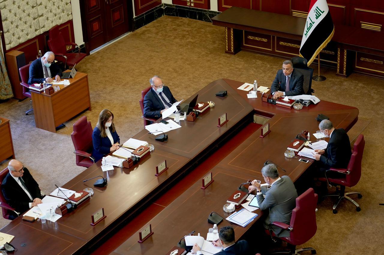 مجلس الوزراء يعقد جلسته الاعتيادية برئاسة رئيس مجلس الوزراء السيد مصطفى الكاظمي