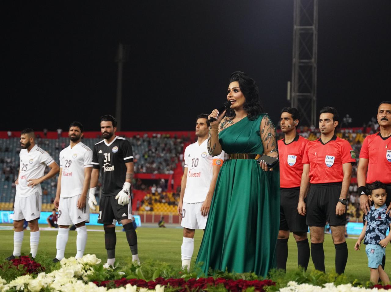 نور الماجد تشعل مدرجات ملعب الشعب في مباراة نهائي كأس العراق
