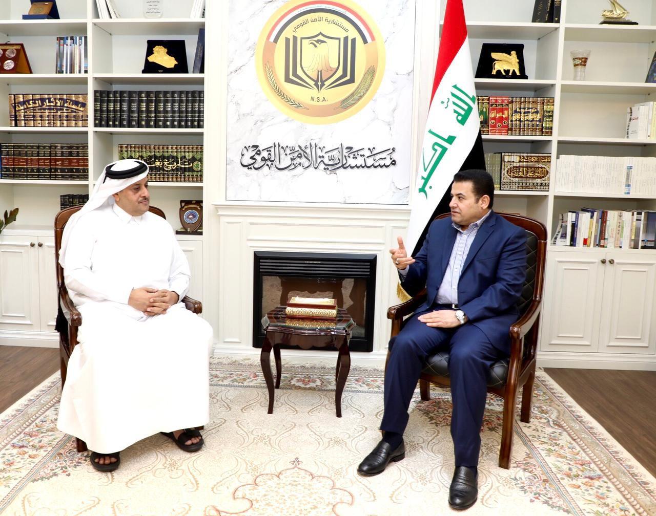 مستشار الأمن القومي السيد قاسم الأعرجي يستقبل سفير دولة قطر في بغداد